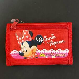 Disney Minnie Mouse Pink Tri-Fold Mini Wallet Coin Purse for Kids