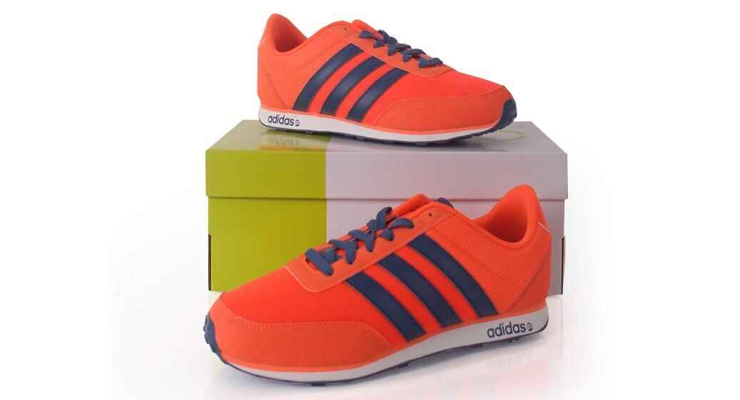 ADIDAS NEO V-RACER  Uomo RUNNING SHOES F97913 ORANGE    NEW WITH BOX SNEAKERS b81425