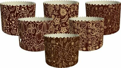 6 Easter Parchment Baking Paper Molds Paska Kulich Panettone Cakes Standard