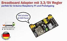Breadboard Adapter MB102 mit Spannungsregler 3,3V / 5V für Arduino Raspberry Pi