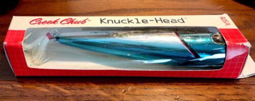 NEW Vintage Creek Chub Knuckle Blue Back 5-inch Fishing Lure Head Chrome