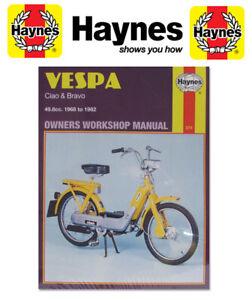 vespa ciao bravo 1968 1982 haynes manual 0374 ebay rh ebay com vespa bravo repair manual Vespa Bravo Parts