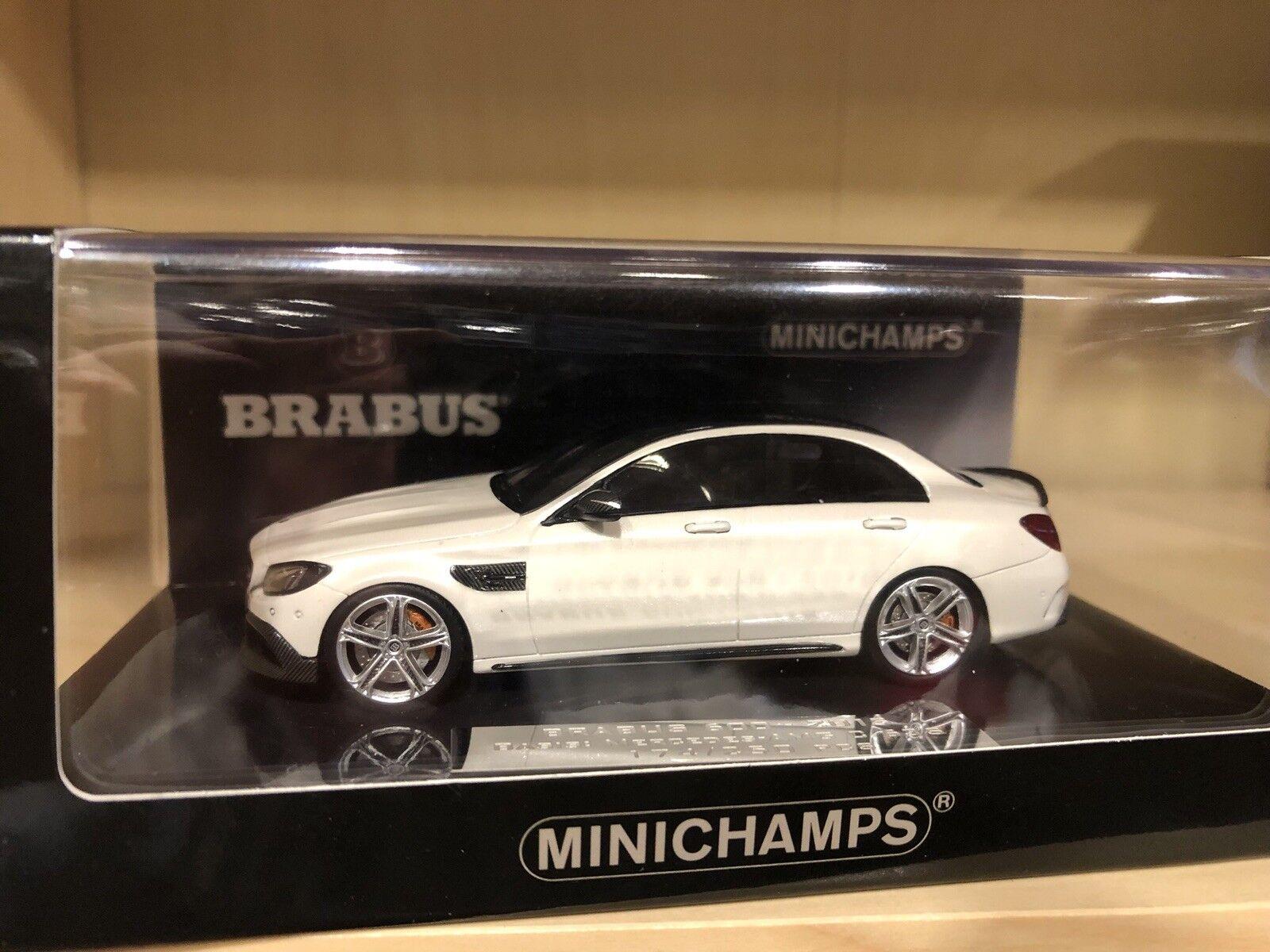 Mercedes-benz Brabus 600 AMG c63-Weiss-Minichamps - 1 43