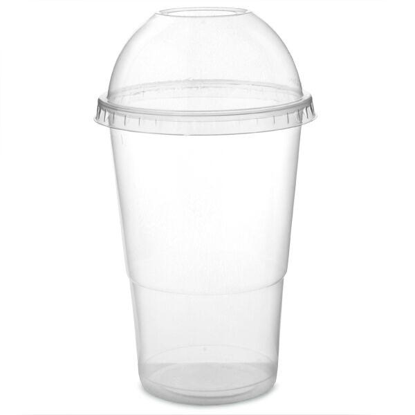 Jetables smoothie tasses en en tasses forme de dôme couvercle milkshake lunettes plastique verre party cup a52f9e