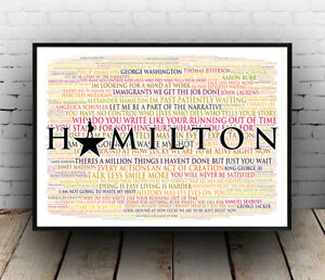 Hamilton broadway musical poster quotes lyrics wall art poster image is loading hamilton broadway musical poster quotes lyrics wall art publicscrutiny Choice Image