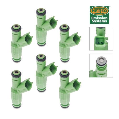 Set of 6 Herko Fuel Injector INJ502 For Chrysler Dodge Voyager 01-07 0280156007
