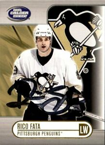 Rico Fata SIGNED autograph 03/04 PACIFIC CALDER HOCKEY card PITTSBURGH PENGUINS