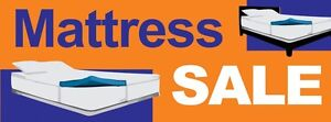 3ft x 8ft Mattress Sale (orng) Vinyl Banner -Alt to Banner Flag 3'x8' (0049)