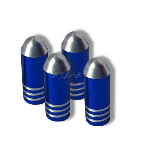 Bleu Bullet poussière caps voiture pneu vélo bmx Valve Voiture Rétro Arròs hotrod dustys