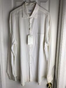 Giorgio-Armani-White-Button-Down-Dress-Casual-Shirt-Vintage-90-039-s-Size-L-LARGE