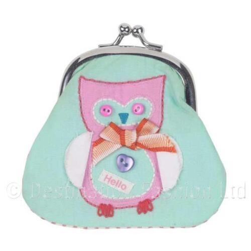 NEW* Bombay Duck Button Girl Owl Bird Coin Purse Ladies Money Wallet Holder