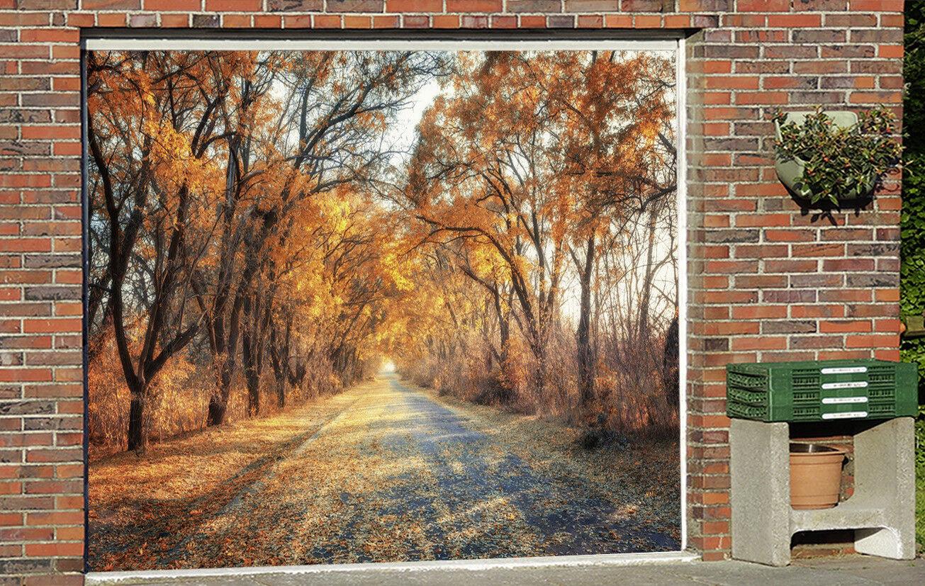 3D Flame Farbe Woods 42 Garage Door Murals Wall Print Wall AJ WALLPAPER UK Lemon