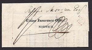 1820 Norwich union form with a fine Ross 127 mileage mark in red