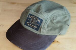Vtg-Polo-Lauren-Polo-Mountain-Expedition-Climbers-L-XL-Cap-Olive-Calf-Leather