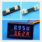0-200V 2-100A RED LED DIGITAL SOLAR PANEL CURRENT AMP METER AMMETER+VOLTMETER G~