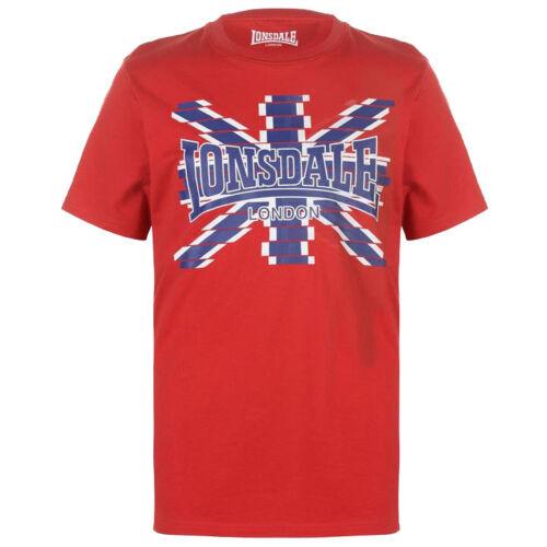 Lonsdale London Logo T-Shirt Men/'s S M L XL 2XL 3XL Red Blue Tee New