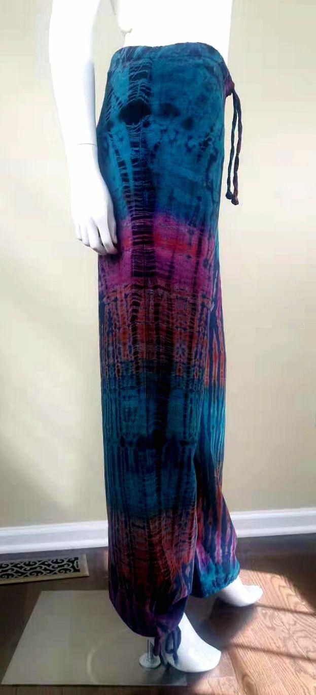 Unbranded Color-Painted Cotton/Linen Casual Pants… - image 6