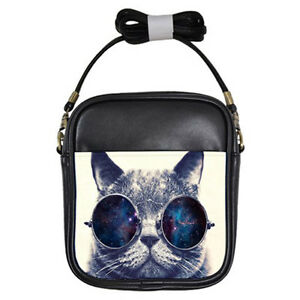 b78f3a8bc46d New CAT WITH GLASSES for WOMAN Girls Sling BAG | FREE Shipping | eBay