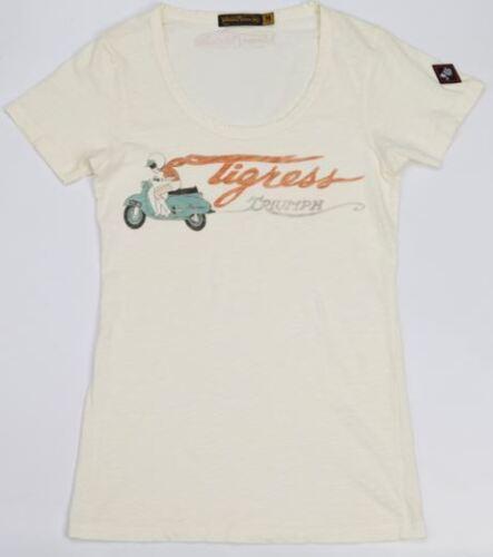Medium FREE SHIPPING IN U.S.! Triumph Women/'s Johnson Motors Tigress T-Shirt