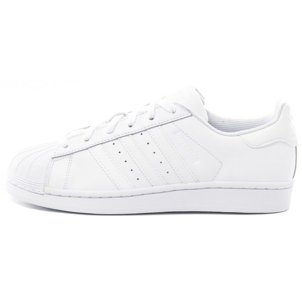 Adidas Superstar White White For Men Size 8 to 12 New In Box B27136 Original