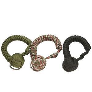 1PC Weaving Umbrella Rope Outdoor Hiking Survive Ball Key Ring Fashion