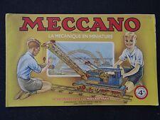catálogo MECCANO 1953 manual 4A declaración instrucciones montaje juguete