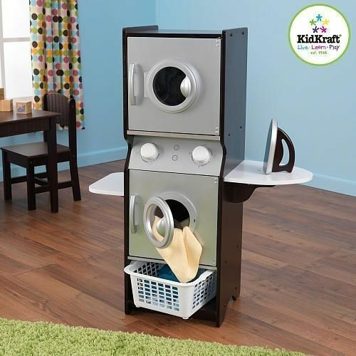 Kidkraft Laundry Washer Dryer Ironing Board Pretend Play