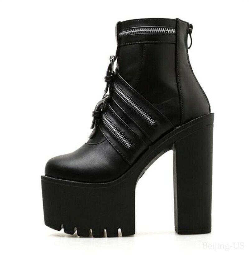 Knöchel Stiefeletten Damenschuhe Heel High Super Platform
