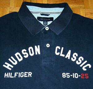 Tommy-Hilfiger-Polo-Shirt-Hudson-Classic-Patch-Spellout-Street-Wear-Hip-Hop-XL