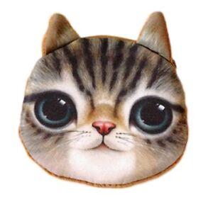 Geldbeutel Geldbörse Mit Süßem Katzenmotiv Aufrichtig Flauschiger Münzbeutel