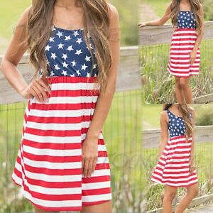 f5bc548a995 Image is loading Summer-Women-American-Flag-Stars-and-Stripes-Sleeveless-