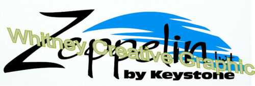"""/""""Zeppelin/""""  By Keystone  RV LOGO Graphic decal lettering Made Fresh 24/"""" X 7/"""""""