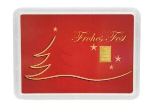 """1 g Goldbarren in Geschenkkarte """"Weihnachten"""" 999,9er Gold Valcambi Schweiz"""