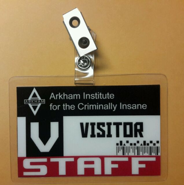 Batman ID Badge- Arkham Institute Visitor  cosplay prop costume