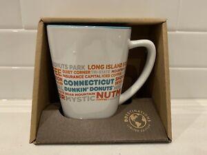 NEW Dunkin Donut Connecticut DD Destinations Coffee Tea Cup Mug 12 oz RARE