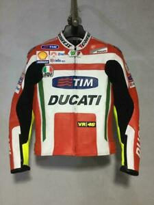 Ducati-Motorcycle-Racing-Leather-Jacket-Men-039-s-All-Size-Available