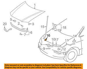 Toyota Oem 9803 Sienna Hoodsupport Prop Rod Clip Cl Holder. Is Loading Toyotaoem9803siennahoodsupportprop. Toyota. 2000 Toyota Sienna Engine Support Diagram At Scoala.co
