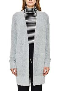 Womens Esprit 12 Alpaca £55 Size Blend Long Wool Grey Rrp Sleeve Bnwt Cardigan dFSqwF6Trx