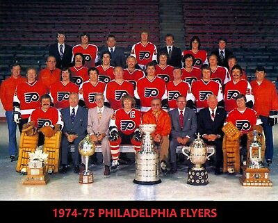 1974-75 PHILADELPHIA FLYERS 8X10 PHOTO HOCKEY NHL PICTURE ... Bruins Roster 1974