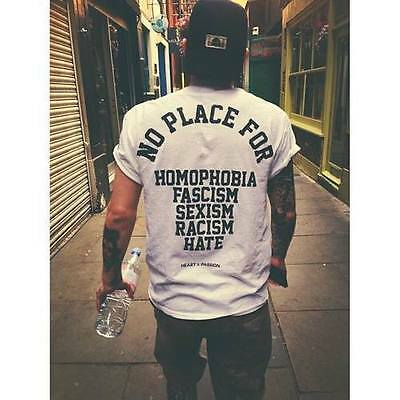 Adattabile Nessun Posto Per T Shirt Tee Omofobia Unicorno Unisex Loose Society Hipster Tumblr-