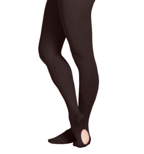 EMEM Apparel Women/'s Ladies Ultra Soft Convertible Transition Dance Tights