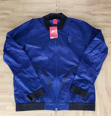 Men's Denver Broncos Nike Navy Sideline Bomber Full Zip Jacket