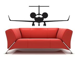 Private-Jet-Airplane-Mural-wall-art-vinyl-decal-Home-decor-Sticker-free-shipping