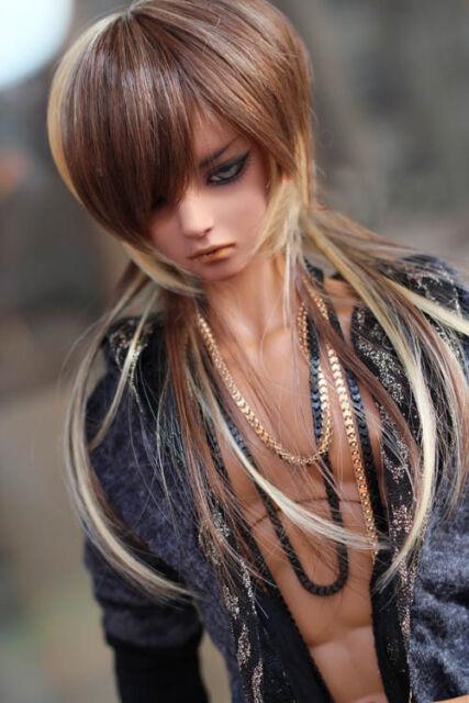 "BJD Doll Hair Wig 8-9""1/3 SD DZ DOD LUTS Multi-color Long Straight"