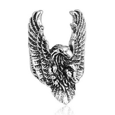 New Men's Stainless Steel Gold/Silver Cool Gothic Punk Biker Finger Ring Jewelry