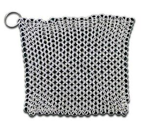 SE-70038-7-034-X7-034-CHAINMAIL-SCRUBBER-WITH-034-O-034-RING-cleaning-chain-mail-renaissance