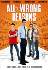 All The Wrong Reasons DVD Karine Vanasse, Cory Monteith, Emily Hampshire