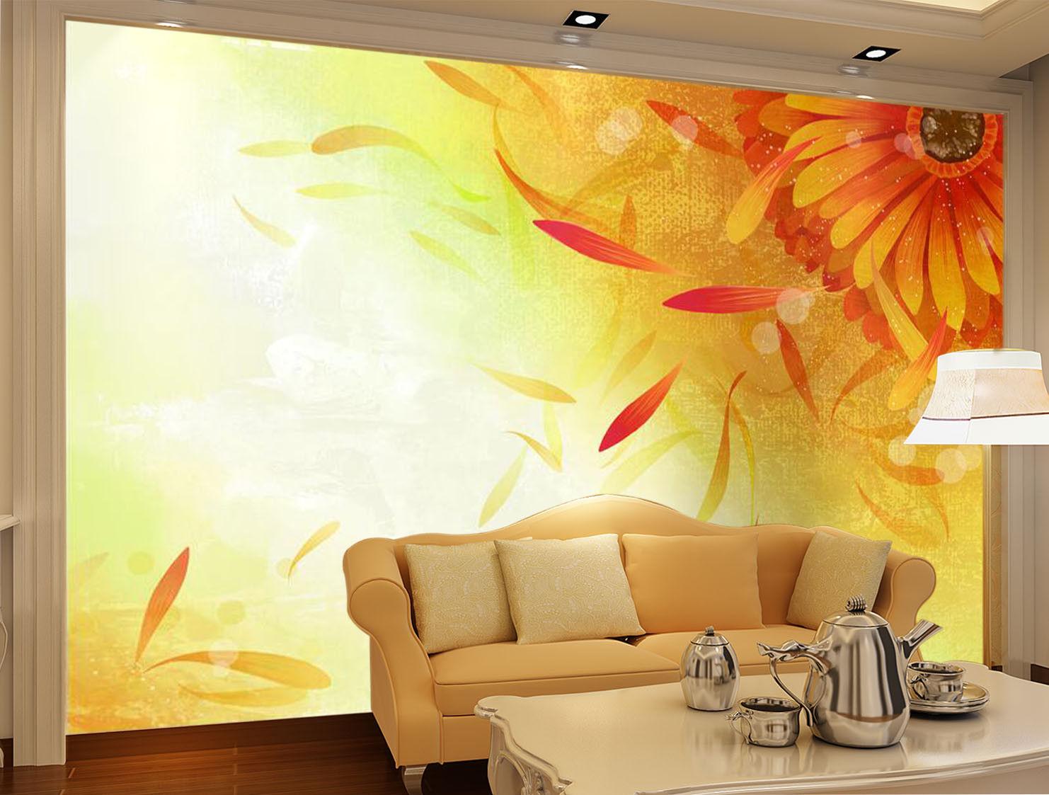 3D Sunflower Petals 7 Wall Paper Murals Wall Print Wall Wallpaper Mural AU Carly