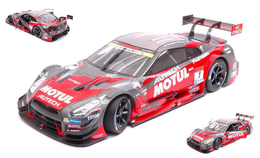 NISSAN GT-R  1 CHAMPION SUPER gt500 2015 T. Matsuda/R. Quintarelli 1:18 Model