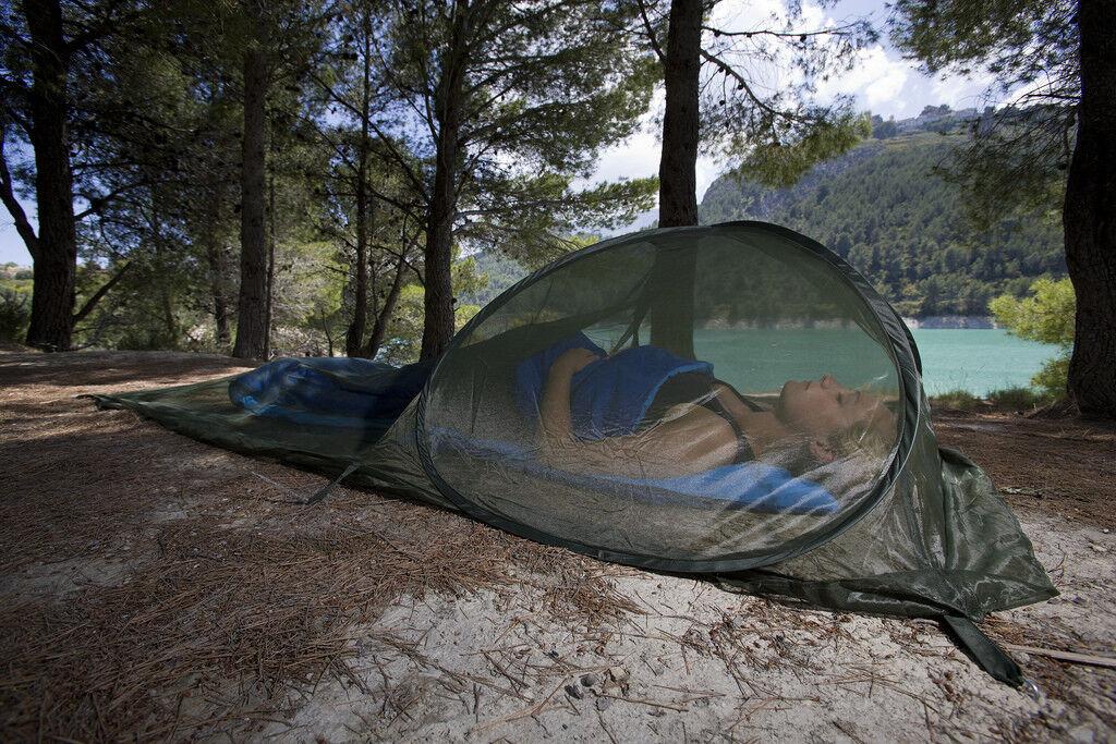 Single Care Plus Pop-Up Dome imprägnierte Mosquito Net Lightweißht Free Standing